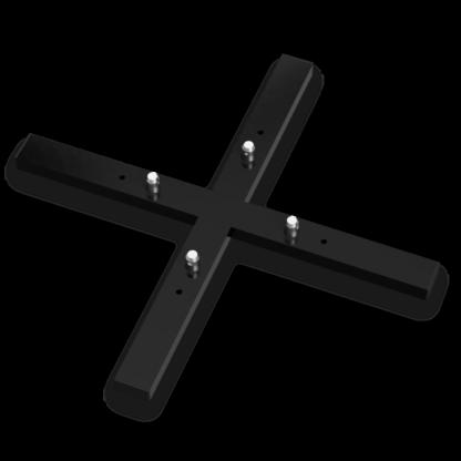 MXA-1000 Traversen Bodenplatte schwarz mit Konusverbindern