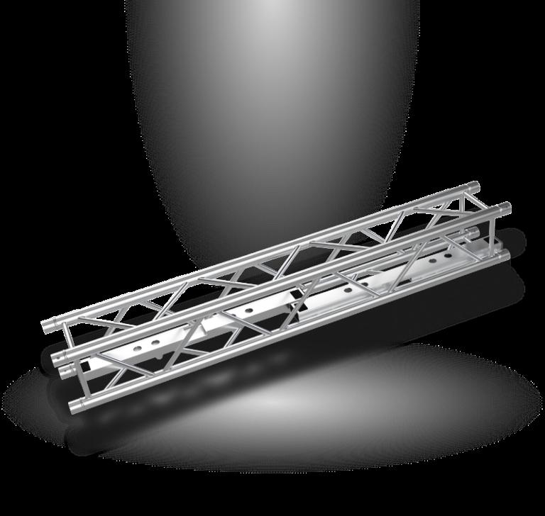 Vertitruss MXA-1000 Bodenplatte auseinandergenommen innerhalb einer Traverse transportiert