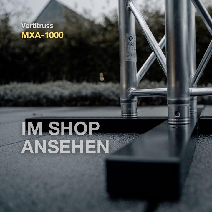 MXA-1000B Bodenplatte mit LITECRAFT Truss LT34 Traverse